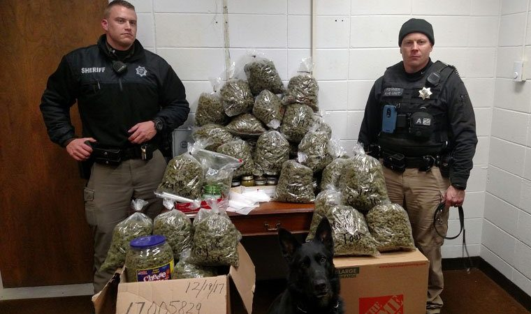 Couple In Their 80s Told Cops 60 Pounds Of Marijuana Was For 'Christmas Presents'