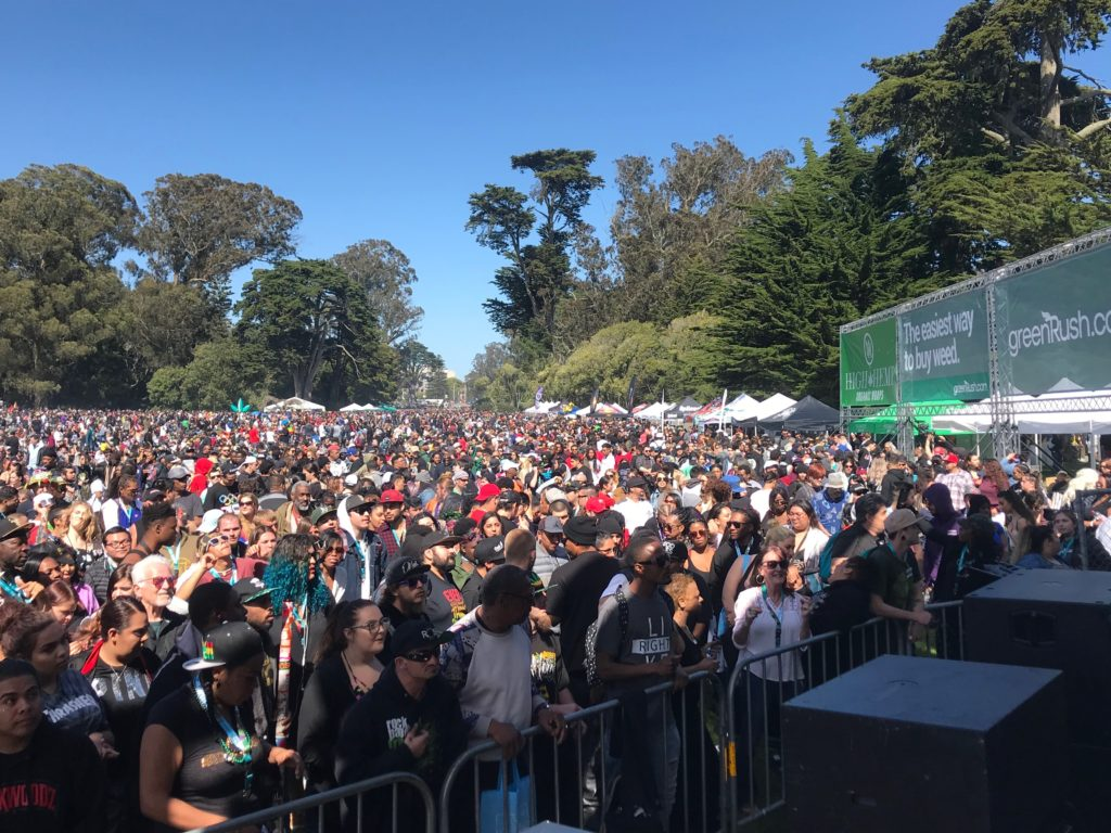 Thousands Of Weed Revelers Enjoy 420 At Hippie Hill In San Francisco