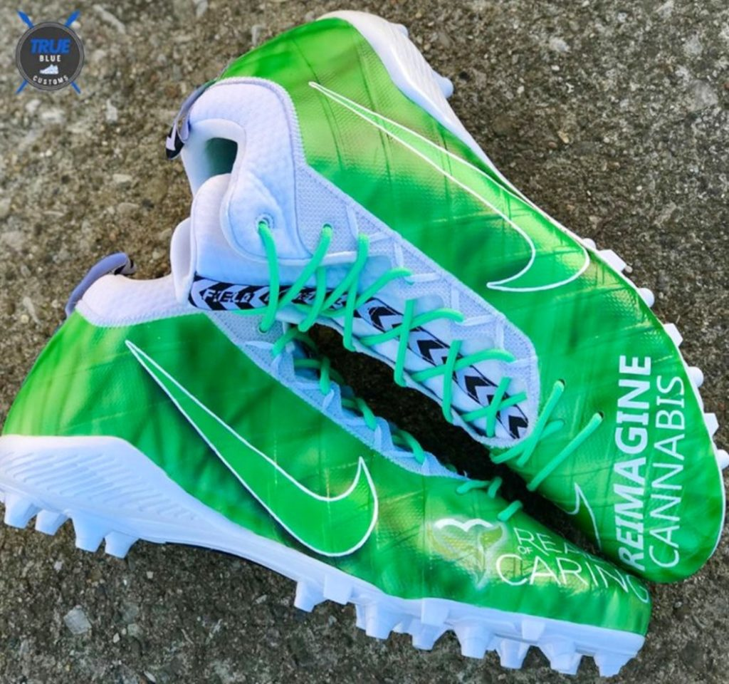 Tennessee Titan Wears Cannabis Cleats to Show His Support