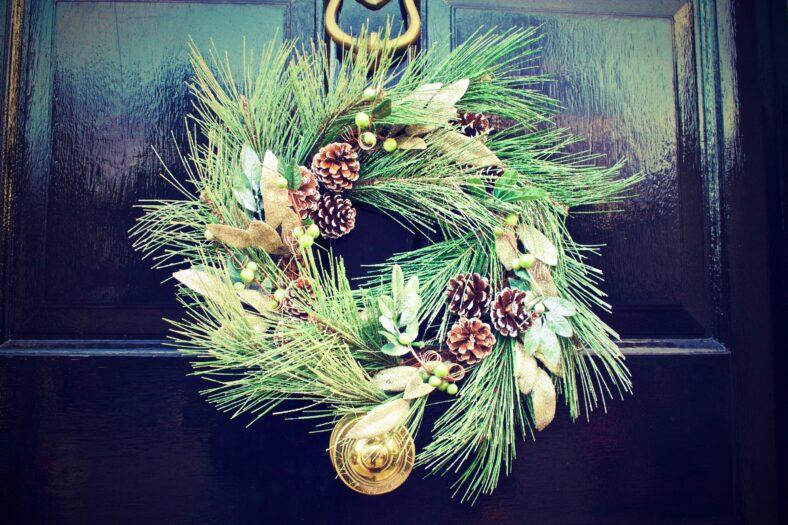 marijuana christmas wreath