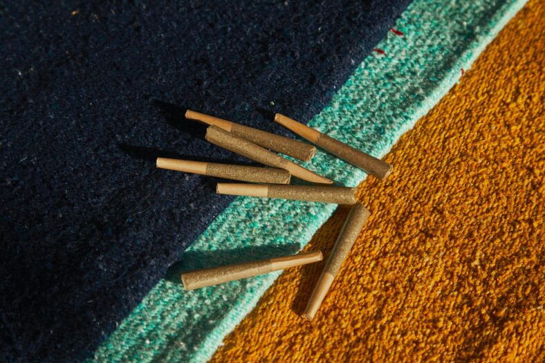 bay area preroll delivery header image (joints on a carpet)