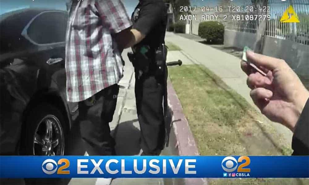 Body Cam Catches LAPD Planting Drugs on Man During Traffic Stop