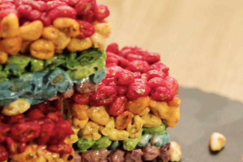 rainbow rice krispies treats