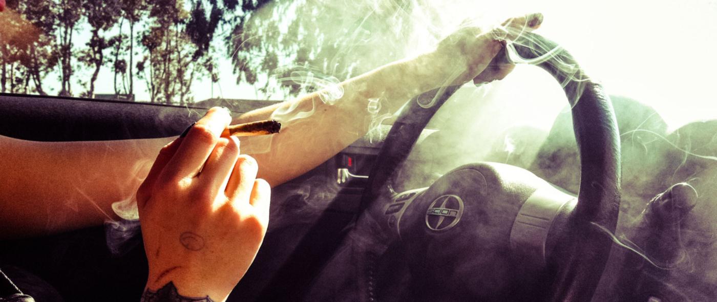 smoking weed while driving