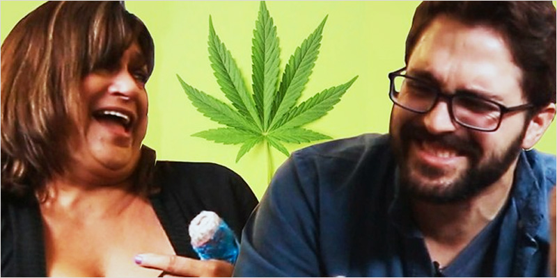 talking about weed